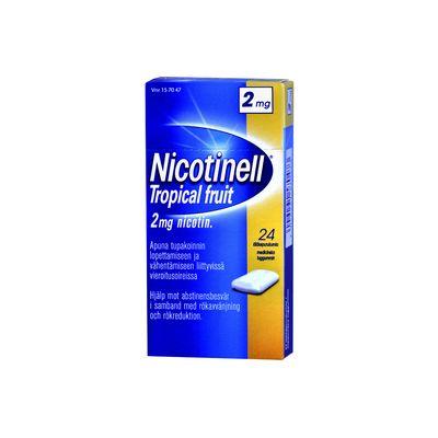 NICOTINELL TROPICAL FRUIT 2 mg lääkepurukumi 24 fol