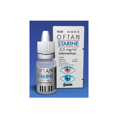 OFTAN STARINE 0,5 mg/ml silmätipat, liuos 10 ml