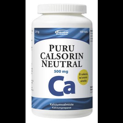 PURU CALSORIN NEUTRAL 500MG PURUTABL 100 kpl