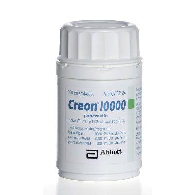 CREON 10 000 enterokaps, kova 100 kpl