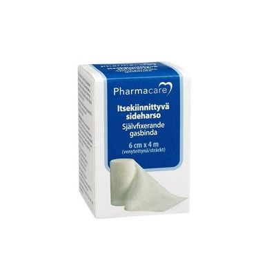 Pharmacare Itsekiinn. sideharso 6cmx4m X1 kpl