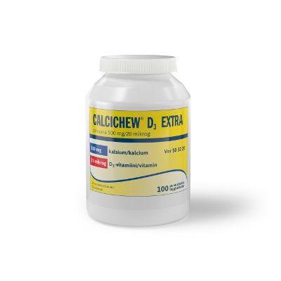 CALCICHEW D3 EXTRA SITRUUNA 500 mg/20 mikrog purutabl 100 kpl