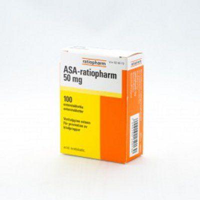 ASA-RATIOPHARM 50 mg enterotabl 100 fol