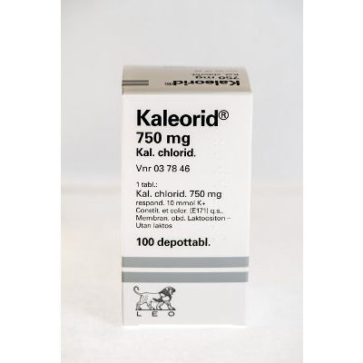 KALEORID 750 mg depottabl 100 kpl