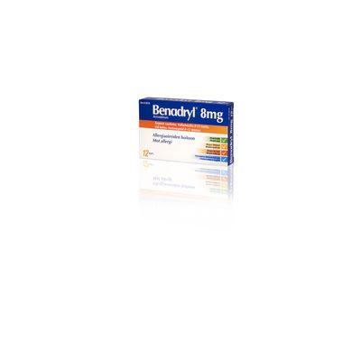 BENADRYL 8 mg kaps, kova 12 fol