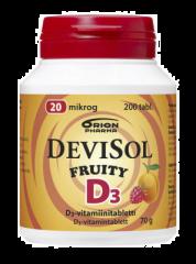 DEVISOL FRUITY 20 MIKROG IMESKELYTABLETTI 200 kpl