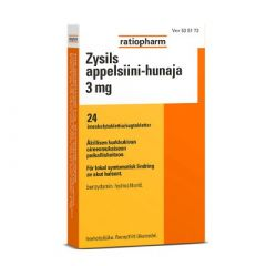 ZYSILS APPELSIINI-HUNAJA 3 mg imeskelytabl 24 fol